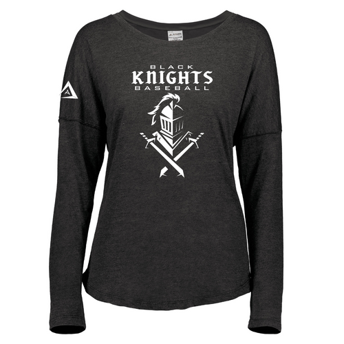 Black Knights Ladies Tri-Blend Long Sleeve