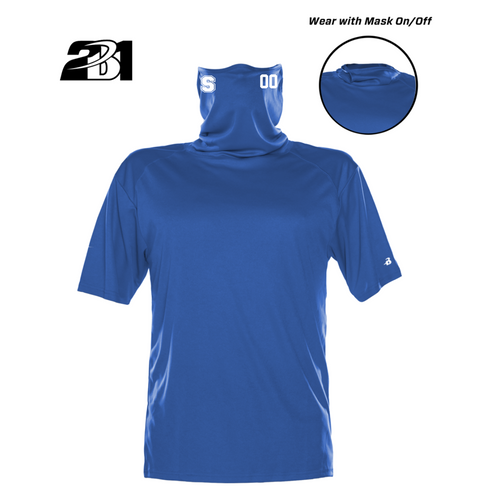 Royal Moisture Management Shirt with  Attached Face Mask