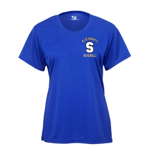 SHS Baseball Fan Ladies Short Sleeve Moisture Management T-Shirt