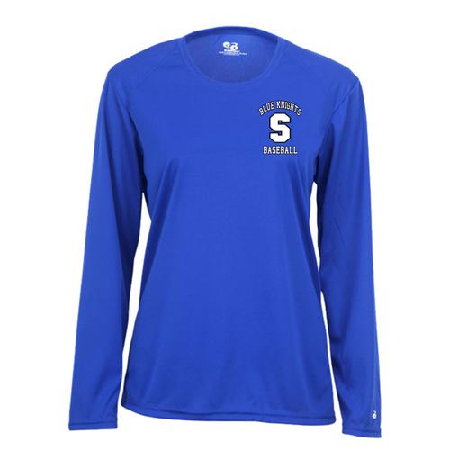 SHS Baseball Fan Ladies Long Sleeve Moisture Management Shirt