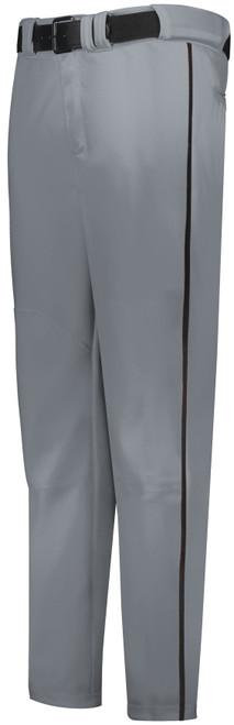 Gray Long Baseball Pant with Black Piping