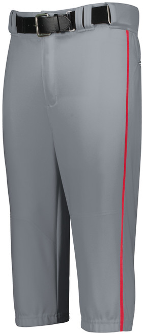 Cheshire Baseball Gray Knicker Pant with Red Piping