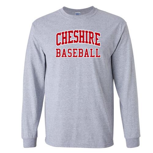 Cheshire Youth Baseball Gray Long Sleeve