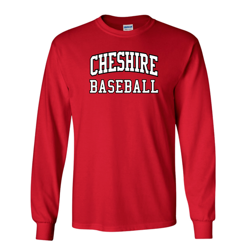 Cheshire Youth Baseball Red Long Sleeve