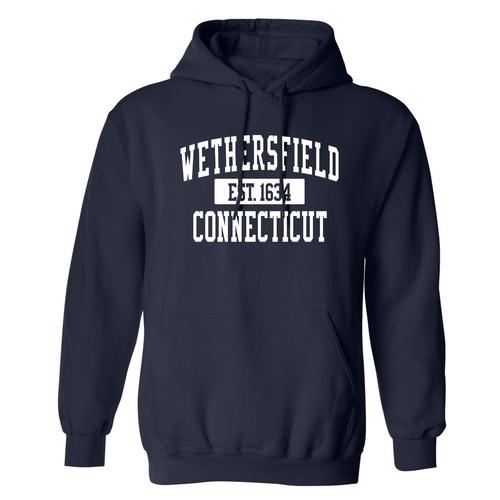 Wethersfield Navy Hooded Sweatshirt
