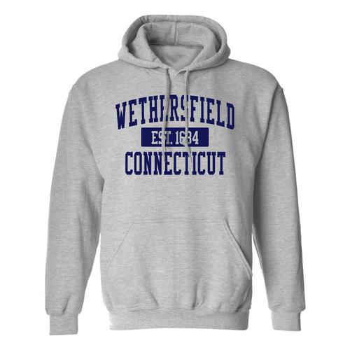 Wethersfield Gray Hooded Sweatshirt