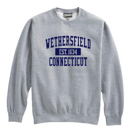 Wethersfield Gray Crewneck Sweatshirt
