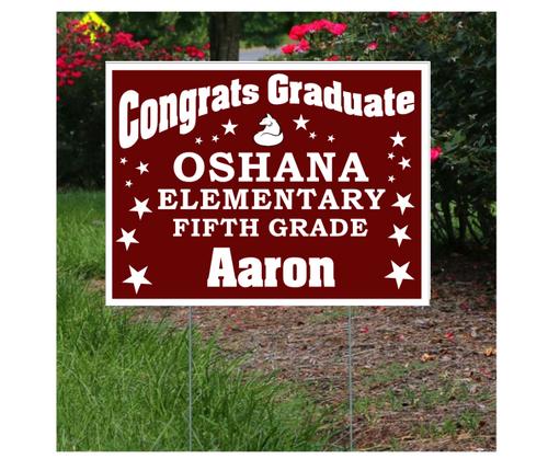 Oshana Elementary Graduation Lawn Sign