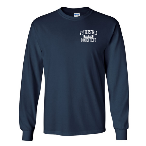 Wethersfield Navy Long Sleeve with Left Chest Logo