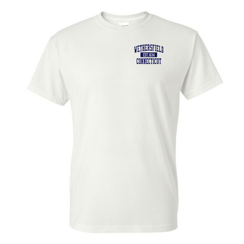 Wethersfield White T-Shirt with Left Chest Logo