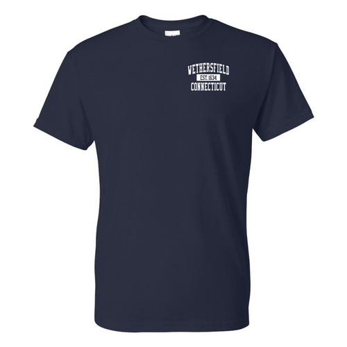 Wethersfield Navy T-Shirt with Left Chest Logo