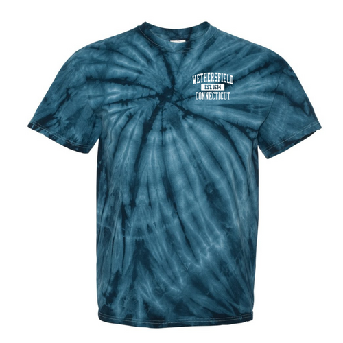 Wethersfield Tie Dye T-Shirt with Left Chest Logo