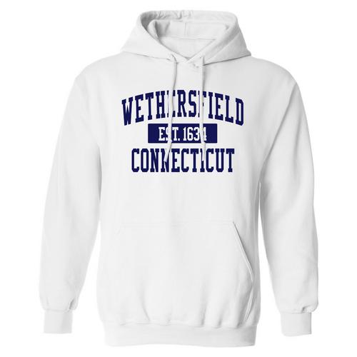 Wethersfield White Hooded Sweatshirt