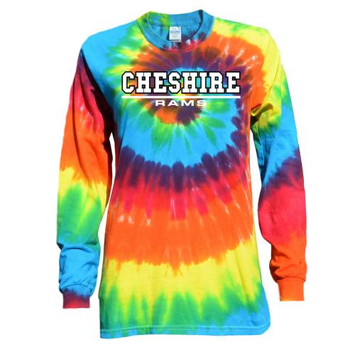 Cheshire Rainbow Tie Dye Long Sleeve with Rams Logo
