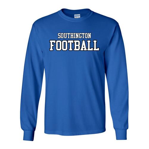 Southington Football Straight Logo Long Sleeve