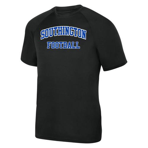 Southington Football Black Moisture Management T-Shirt