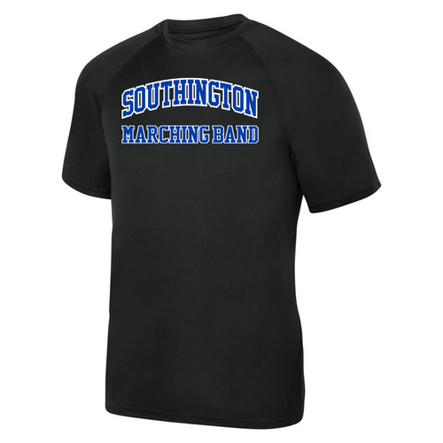 Southington Marching Band Black Moisture Management T-Shirt