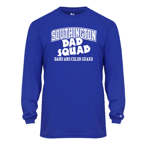 BKMB Dad Squad Royal Moisture Wicking Long Sleeve