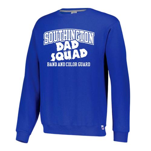 BKMB Dad Squad Royal Russell Crewneck Sweatshirt