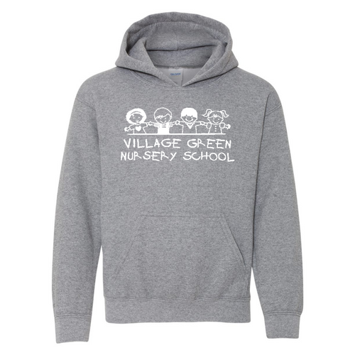 Village Green Nursery Graphite Heather Hoodie (Youth and Adult)