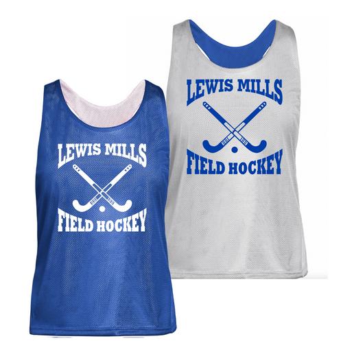 Lewis Mills Field Hockey  Reversible Royal/White Pinnie