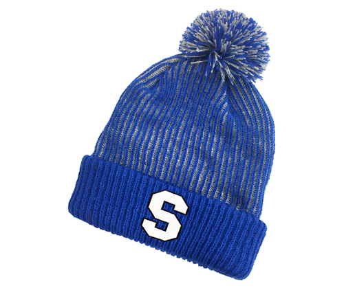 Southington Ribbed Youth Pom Pom Hat