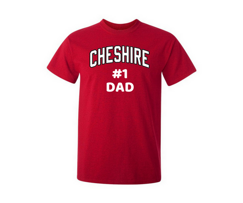 Cheshire #1 Dad Red T-Shirt