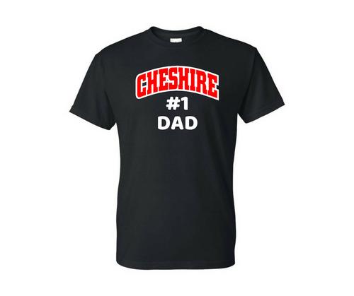 Cheshire #1 Dad Black T-Shirt