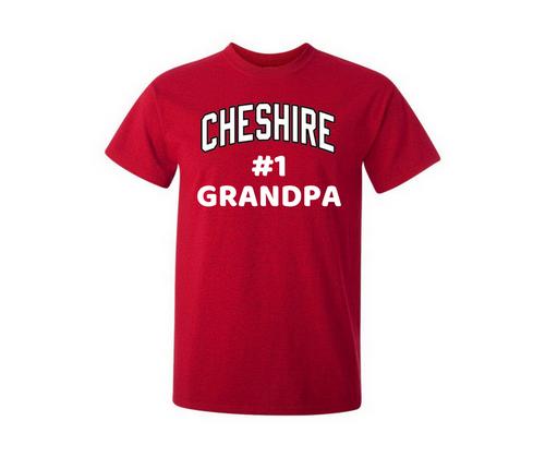 Cheshire #1 Grandpa Red T-Shirt