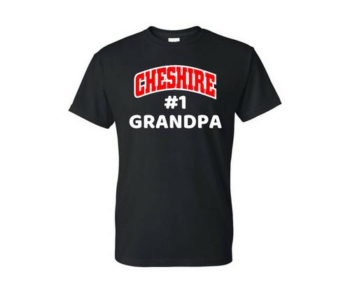 Cheshire #1 Grandpa Black T-Shirt
