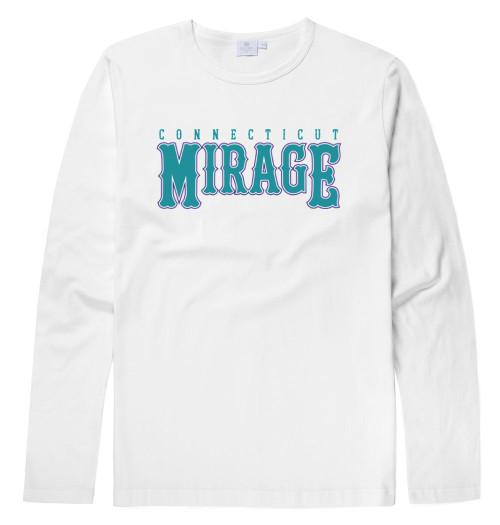 Mirage Softball White Long Sleeve