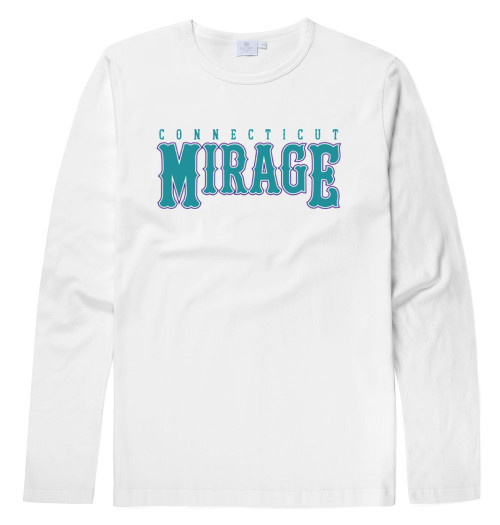 Mirage Softball White Long Sleeve