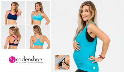 Exercise clothes for breastfeeding mums by Cadenshae [interview]
