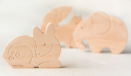 Wooden Teething Toys Handmade by Modern Monty Now at Milk and Love [Interview]