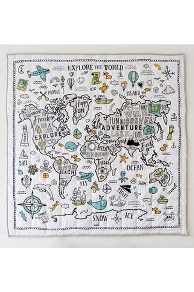 Baby Play Mat - Organic Cotton World Explorer