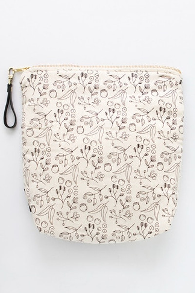 """Botanical"" Organic Cotton Waterproof Pouch"