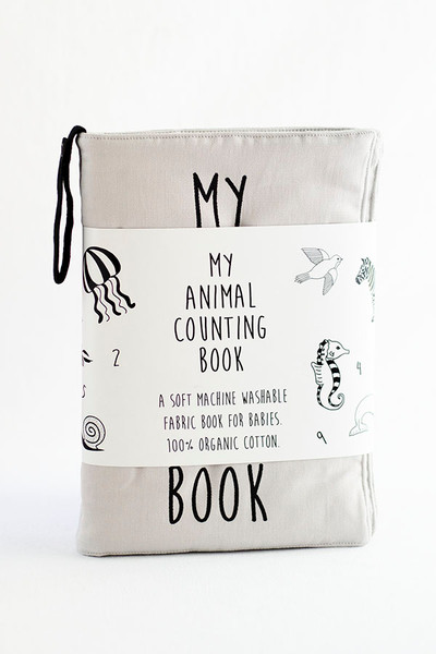 My Animal Counting Quiet Book GOTS Organic Cotton Soft Fabric Book