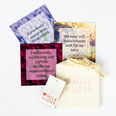 Positive Affirmation Cards for Breastfeeding [set of 25]