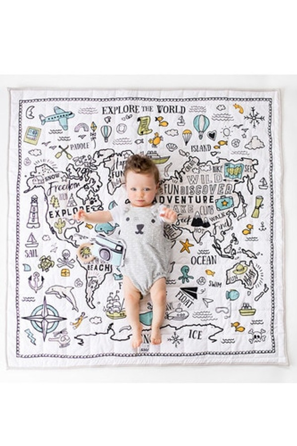Baby Play Mat - Organic Cotton World Explorer with Baby