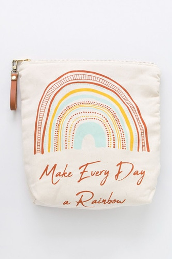 Make Every Day a Rainbow – Zipper Waterproof Multi Pouch Bag