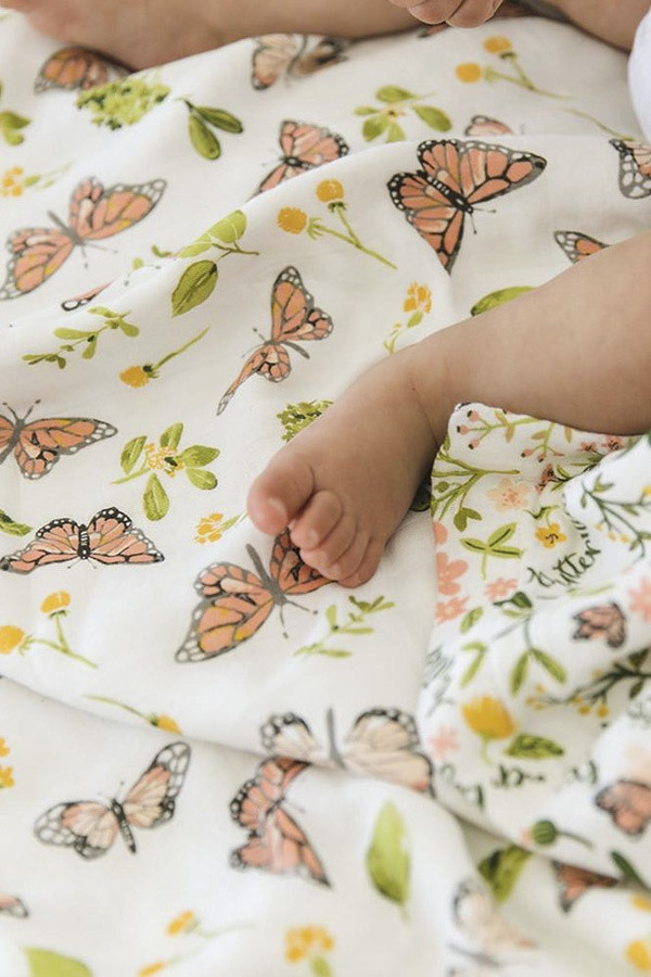 Luxury Bamboo Muslin Wrap for Baby - Butterfly Lifestyle