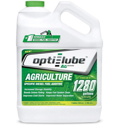 Opti-Lube Ag Agriculture Formula Diesel Fuel Additive: 1 Gallon, Treats 1280 Gallons
