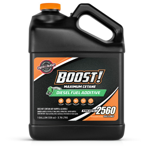 Opti-Lube Boost! Maximum Cetane Diesel Fuel Additive: 1 Gallon with Accessories (1 Hand Pump and 2 Empty 4oz Bottles) Treats up to 2,560 Gallons