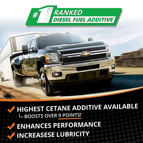 Opti-Lube Boost! Maximum Cetane Formula Diesel Fuel Additive: 8oz 6 Pack, Treats up to 160 Gallons per 8oz Bottle