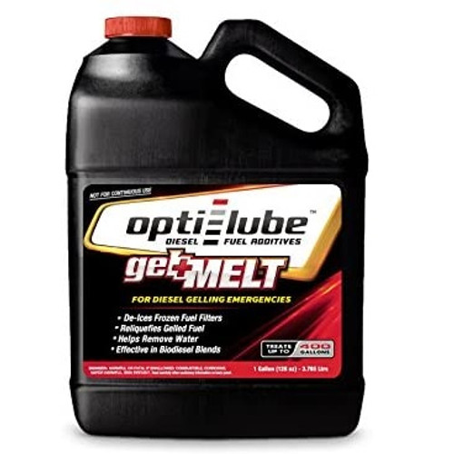 Opti-Lube Gel Melt Diesel Fuel Additive for Emergency Use: 1 Gallon (128oz) Treats up to 400 Gallons of Diesel Fuel
