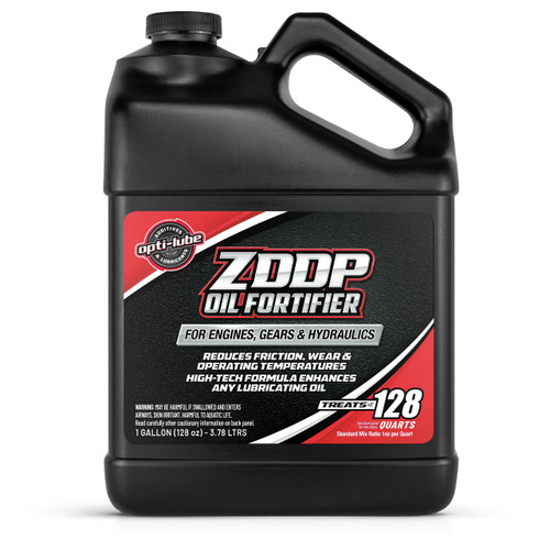 Opti-Lube ZDDP Oil Fortifier: 1 Gallon Without Accessories, Treats up to 128 Quarts of Oil