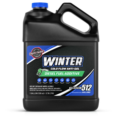 Opti-Lube Winter Anti-Gel Diesel Fuel Additive: 1 Gallon Without Accessories, Treats up to 512 Gallons