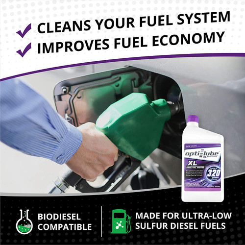 Opti-Lube XL Xtreme Lubricant Diesel Fuel Additive: 1 Quart, Treats up to 320 Gallons