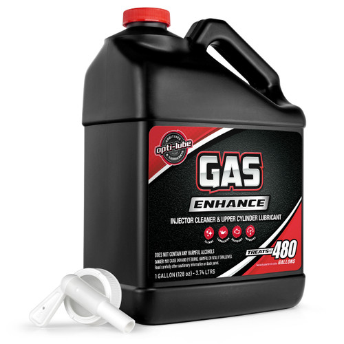 OPTI-LUBE GAS ENHANCE FUEL ADDITIVE: 1 Gallon with Spigot, Treats Up To 480 Gallons of Gasoline