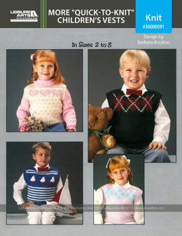 """eBook More """"Quick-to-Knit"""" Children's Vests"""